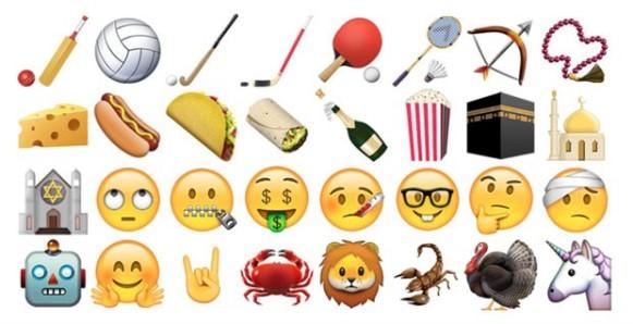 Cerca de 150 novos emojis. (Foto/ Reprodução Emojipédia)