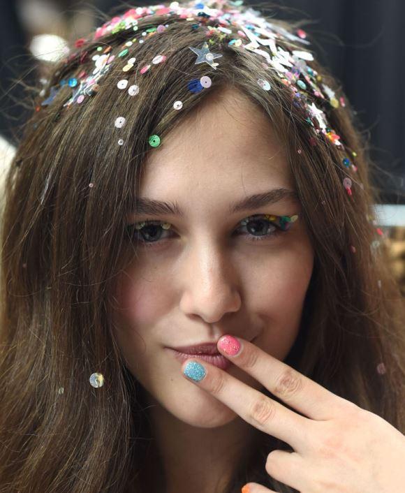 Confetti hair Tendências, fotos
