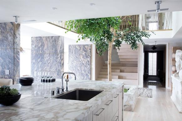 Decoração com mármore modernidade e refinamento. (Foto Ilustrativa)