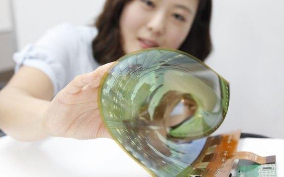 LG lança tela flexível de 18 polegadas