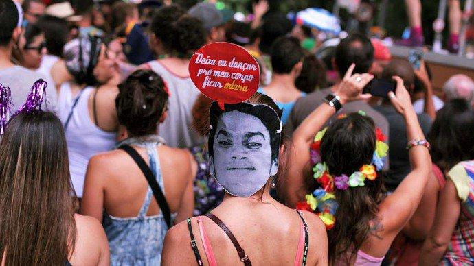 No Rio, Bloco de Rua também uma tradição (Foto: Veja SP/Abril)