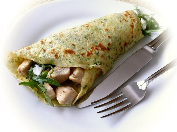 Panqueca de frango. (Foto Ilustrativa)