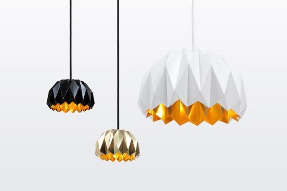 Luminárias modernas. (Foto Ilustrativa)
