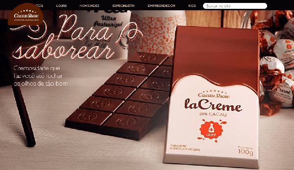 Para quem adora uma barrinha de chocolate a Cacau Show tem uma especial (Foto Divulgação: Cacau Show)