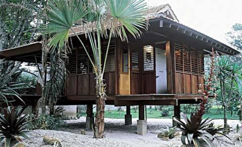 Casa de madeira de praia (Foto: Casa Abril)