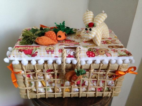 Use e abuse da criatividade para montar a cesta de páscoa (Foto: Reprodução/Casa e Festa)