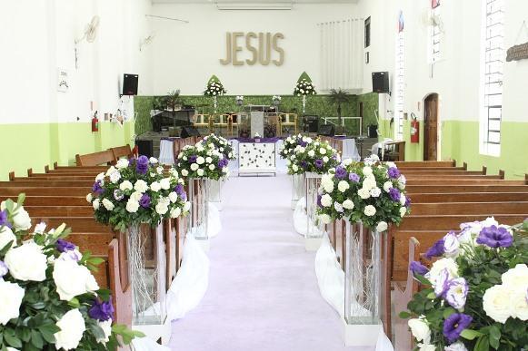decoracao de casamento igreja evangelica : decoracao de casamento igreja evangelica: tendências de casamento para Igrejas 2016. (Foto Ilustrativa