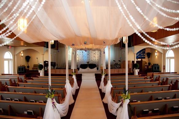 Resultado de imagem para decoração de casamento com TECIDO
