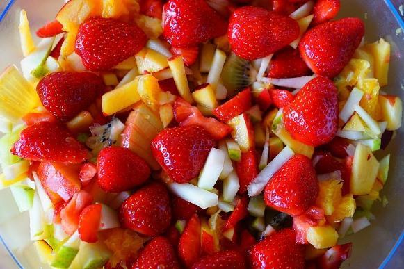 A salada de frutas é uma ótima opção para o lanche. (Foto Ilustrativa)