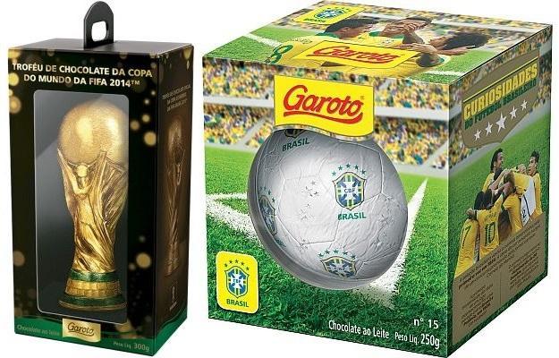 Até a seleção já foi tema de ovos de páscoa (Foto: Reprodução/Verminosos Por Futebol)