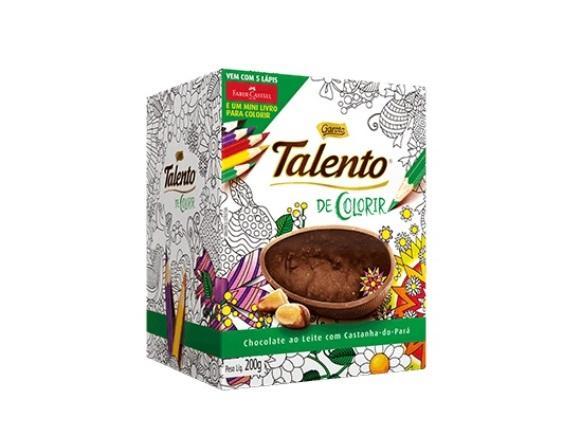 Ovo de páscoa de colorir Talento. (Foto: Reprodução/Garoto)