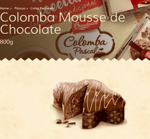 Colomba Pacal Mousse de Chocolate da Bauducco (Foto Divulgação: Bauducco)