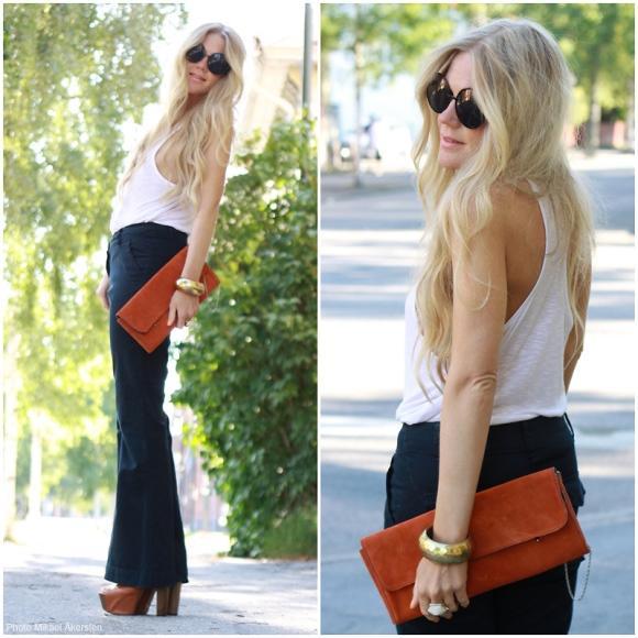 Calça jeans boca-de-sino. (Foto Ilustrativa)