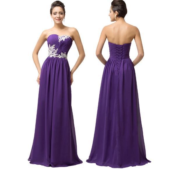 Modelo de vestido de formatura longo. (Foto: Divulgação)