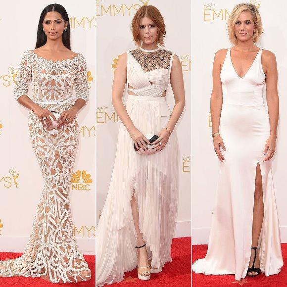 O vestido de festa branco sinaliza elegância. (Foto: Divulgação)