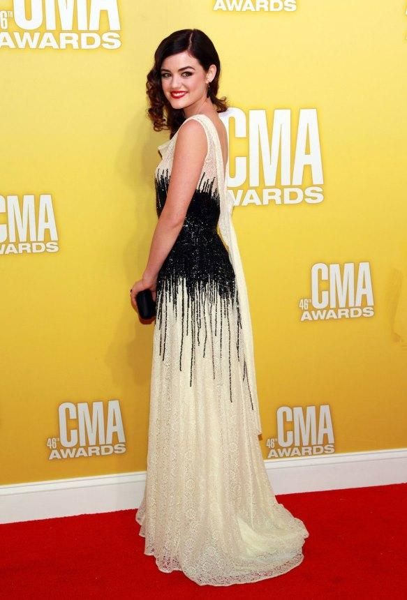 LUCY HALE at 46th Annual CMA Awards in Nashville