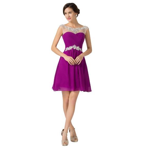 Modelo de vestido de formatura curto. (Foto: Divulgação)