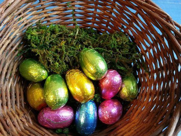 Os ovos de Páscoa também não podem faltar na cesta (Foto Ilustrativa)