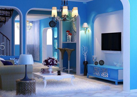 As diferentes tonalidades de azul combinam com vários espaços (Foto Ilustrativa)