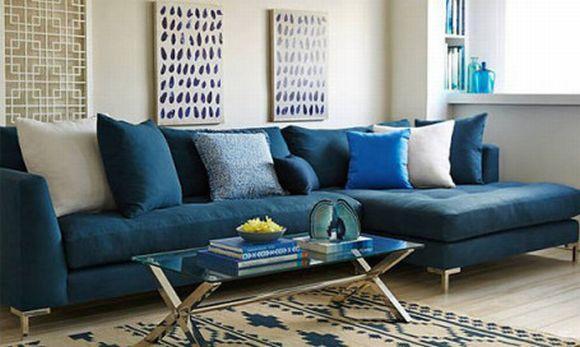 O azul pode aparecer também nos móveis e objetos decorativos (Foto Ilustrativa)