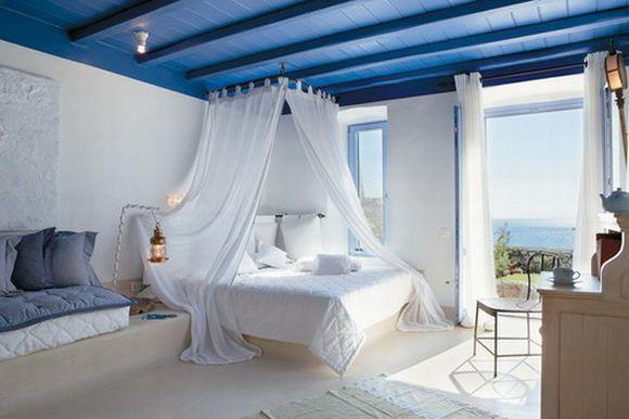 Decoração azul no quarto (Foto Ilustrativa)