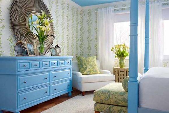 Outra opção de decoração azul no quarto (Foto Ilustrativa)