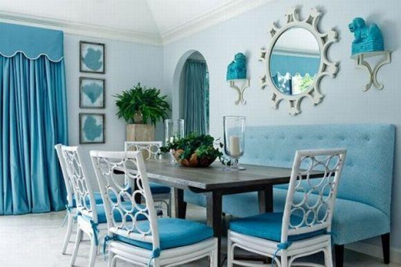 Decoração com azul na sala (Foto Ilustrativa)