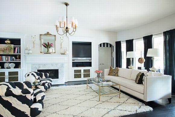 Dá para mesclar outros tons na decoração preto e branco e conseguir belos resultados (Foto Ilustrativa)