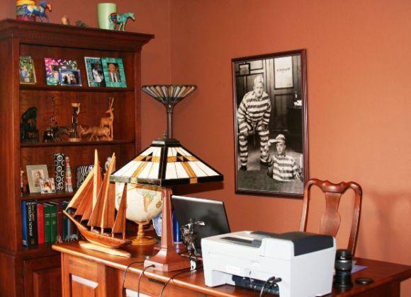 A decoração deixou esse home office muito mais atraente (Foto Ilustrativa)