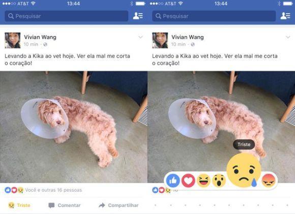 Com os novos emojis, você demonstra a sua reação ao ver uma publicação no Facebook (Foto: Divulgação Facebook)