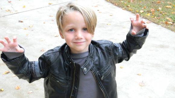Jaqueta de couro masculina infantil (Foto Ilustrativa)