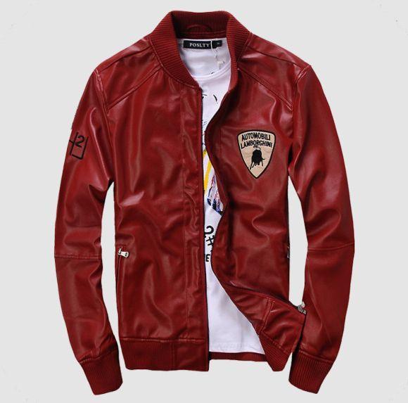 Jaqueta de couro vermelha (Foto Ilustrativa)