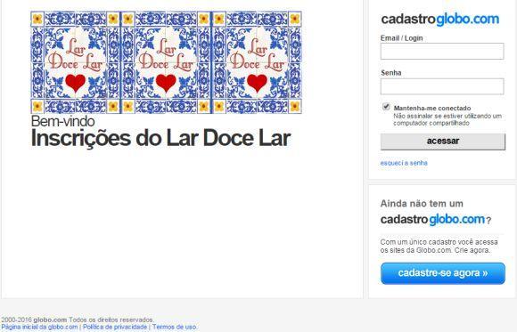 Uma das maneiras de se inscrever no Lar Doce Lar é pela internet (Foto Ilustrativa)