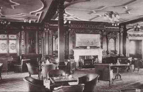 Salão para fumantes do Titanic original (Foto Ilustrativa)