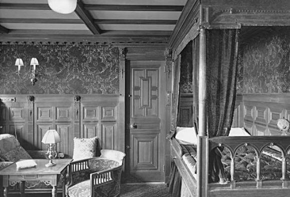 Cabine da 1ª classe em 1912 (Foto Ilustrativa)