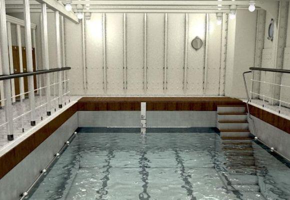 A piscina do Titanic em 2018 (Foto: Divulgação Blue Line)