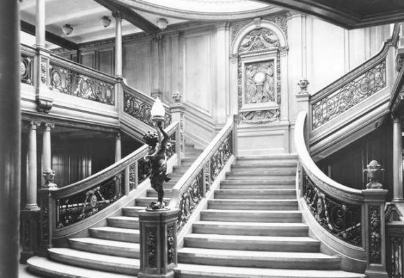 A famosa escadaria do Titanic original (Foto Ilustrativa)