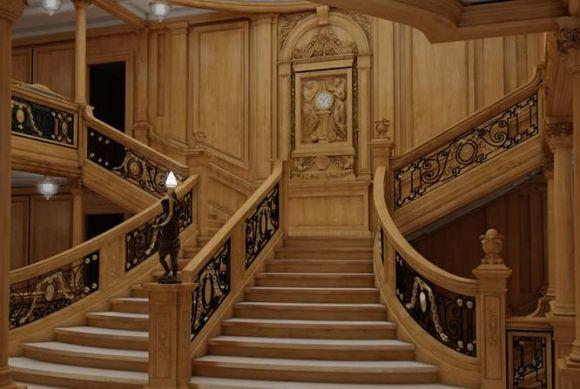 A escadaria do novo Titanic (Foto: Divulgação Blue Line)
