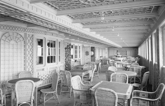 O Café Parisiense no Titanic em 1912 (Foto Ilustrativa)