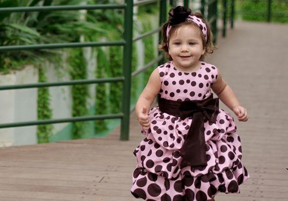 A loja apresenta um amplo catálogo de modelos de vestidos infantis (Foto: Divulgação Ana Giovanna Moda Infantil Feminina)