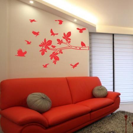 Você pode combinar o adesivo na decoração (Foto: Aplique Adesivos)