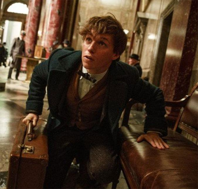 O bruxo guarda criaturas mágicas na sua maleta. (Foto: Reprodução/Warner Bros)