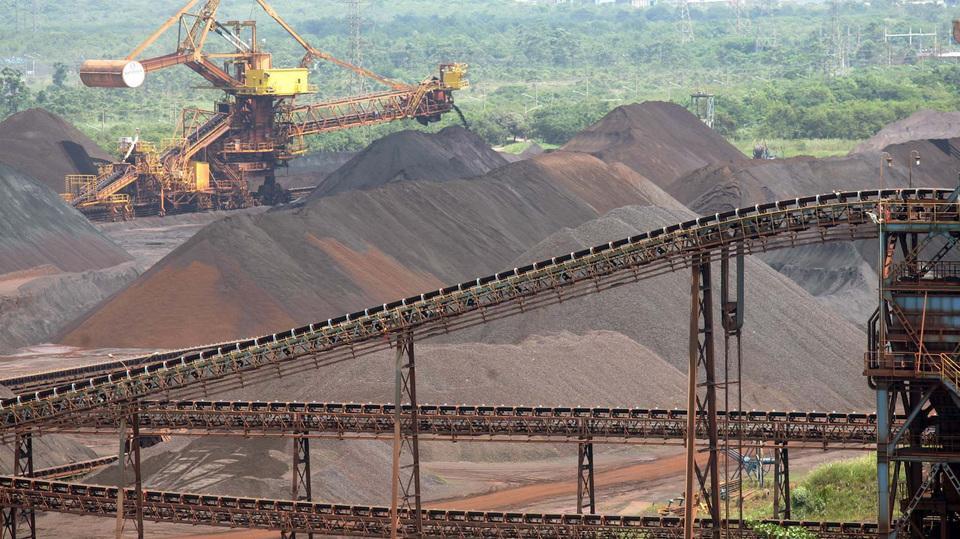 Jazida de ferro na mina da Vale (Foto: Exame/Abril)