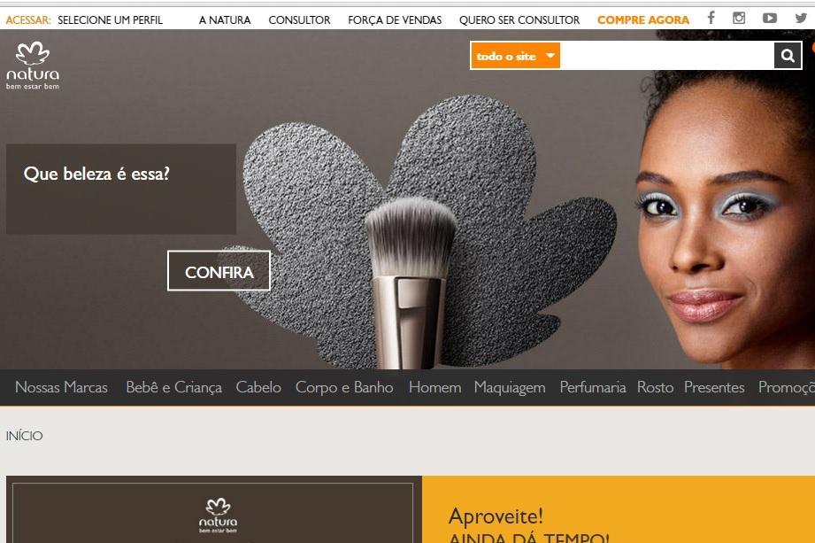 Como comprar Natura online (Foto: Reprodução/Site da Natura)