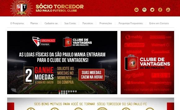 Sócio Torcedor São Paulo. (Foto: Divulgação)