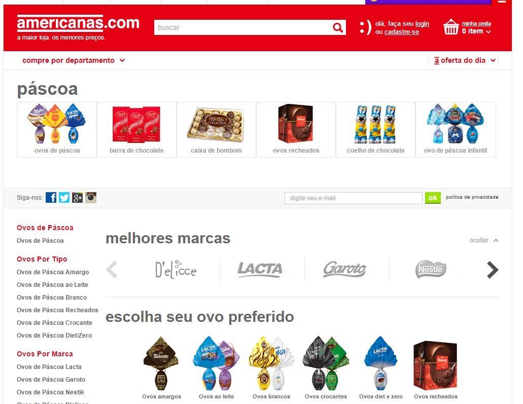Site tem várias opções de produtos (Foto: Reprodução/Americanas)