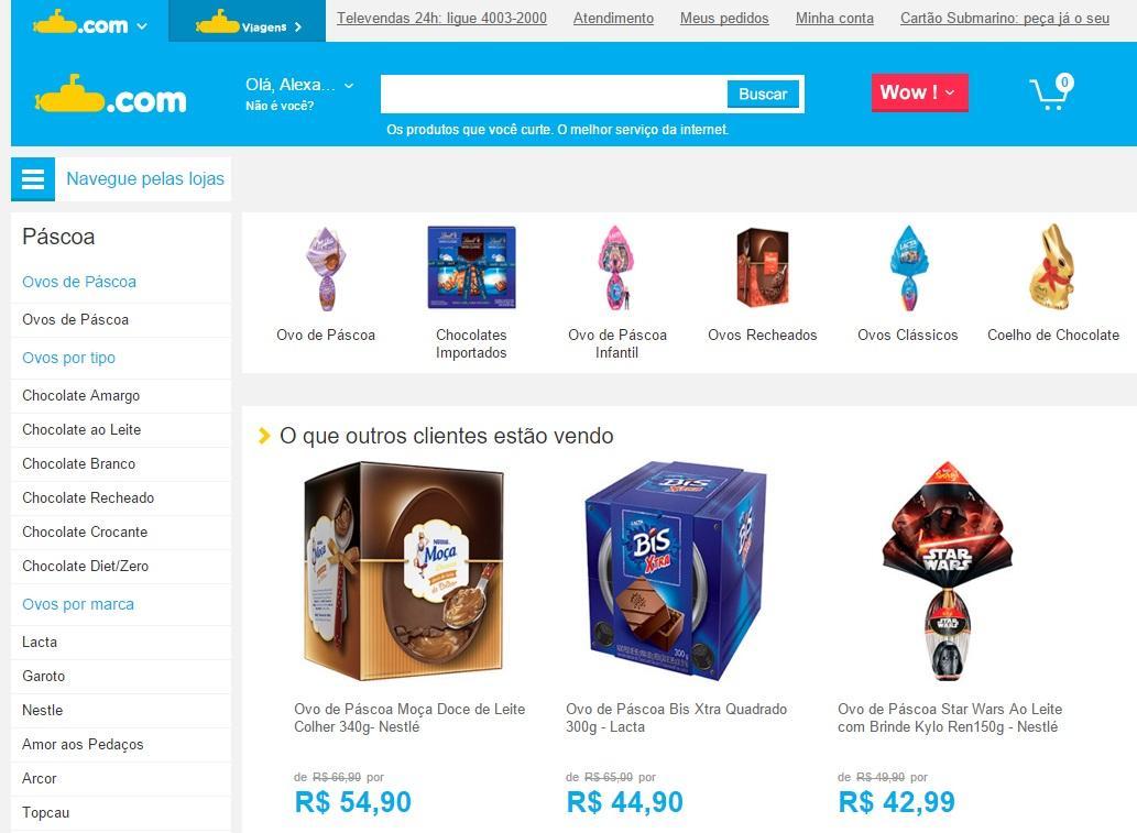 Dá para comprar online (Foto: Reprodução/Submarino)