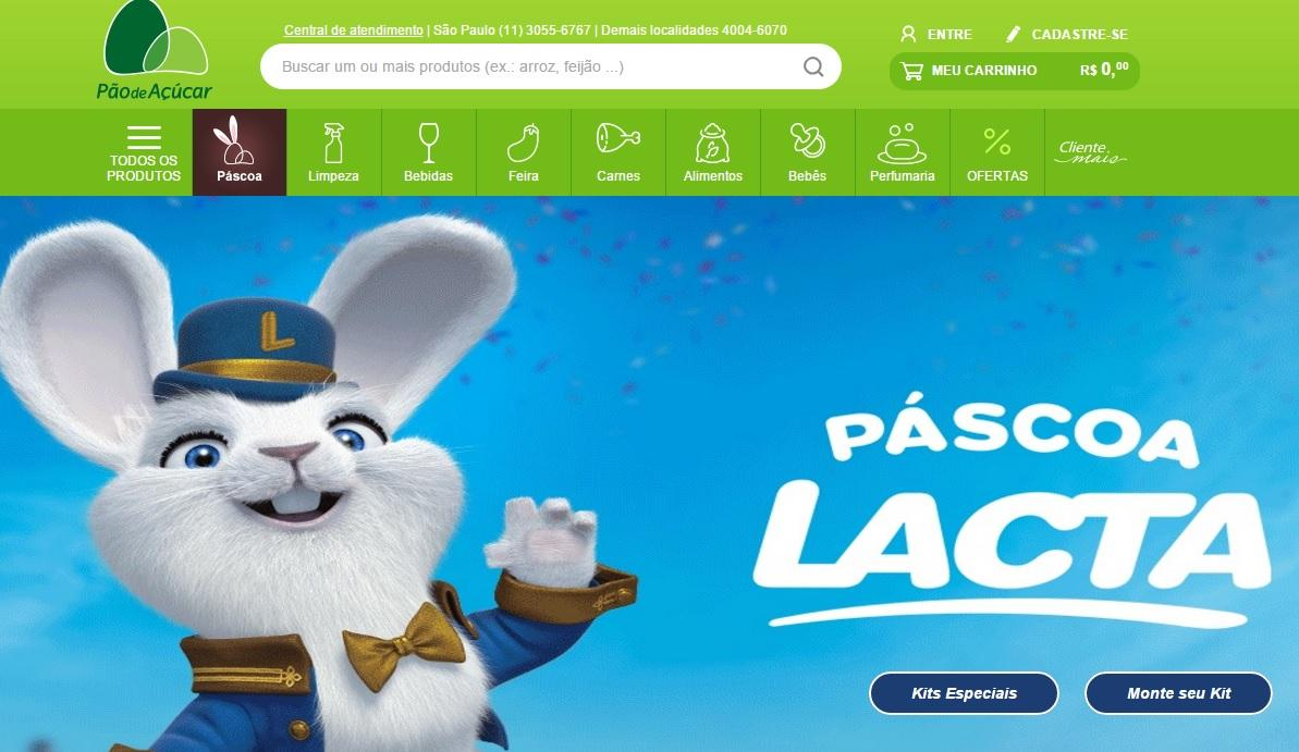 Supermercado também vende online (Foto: Reprodução/Pão de Açúcar)
