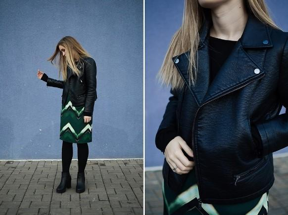 O verde-escuro é uma boa opção para o look. (Foto: Reprodução/Lookbook.nu)