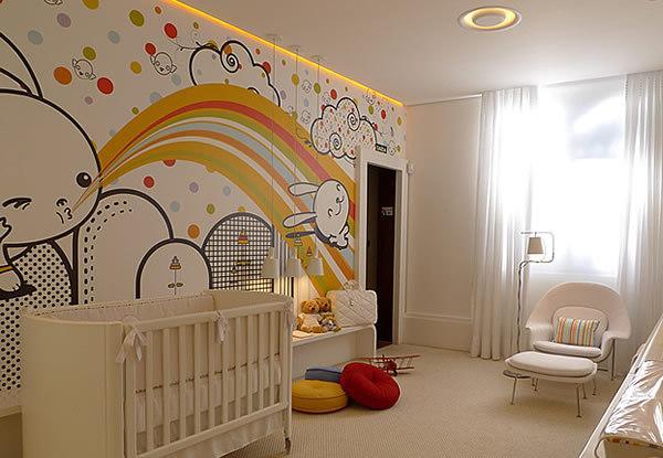 Brincadores com cores é viável e estimula a criança (Foto: Dicas Decor)